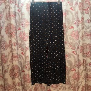 Light weight dotted wide leg pants